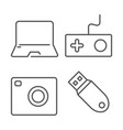 home electronics and gadgets thin line icon vector image