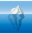 iceberg in the ocean vector image