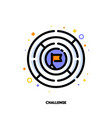 icon of round labyrinth or maze for business vector image