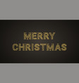 inscription of merry christmas with neon lamps vector image vector image