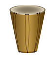 isolated bass drum musical instrument vector image vector image