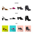 isolated object of footwear and woman symbol vector image vector image