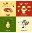 Italian Food Design Concept vector image vector image