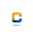 Letter C logo design vector image vector image