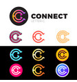 letter c logo icon design template elements set vector image vector image