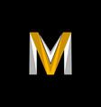 letter vm modern business logo design vector image vector image