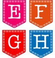 Letters E F G H vector image vector image