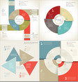 modern design infographic template collection vector image