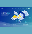 online bill payment laptop online check payment vector image vector image