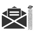 open mail icon with people bonus vector image