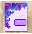 Peacock feathers wedding card Printable vector image