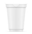 plastic container of yogurt or ice cream 08 vector image vector image