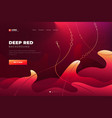 red abstract background landing page website vector image