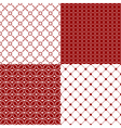 red and white patterns vector image vector image