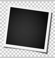 retro realistic square photo frame vector image vector image