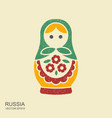 russian traditional doll souvenir - matryoshka vector image