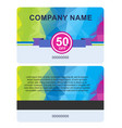 sale card template vector image vector image