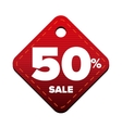Sale fifty percent pricetag red vector image vector image
