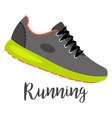 shoes with text running vector image vector image