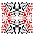 Square dual color ornament with red and black drop vector image vector image