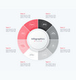 stylish pie chart circle infographic template 8 vector image