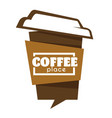 takeaway coffee cup isolated icon cafe or vector image vector image