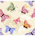 tropical butterfly seamless pattern vector image