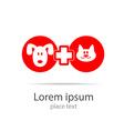 veterinary medicine logo vector image vector image