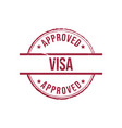 Visa approved grunge round vintage rubber stamp