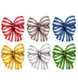 watercolor hand drawn colorful striped bows vector image