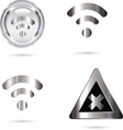 wifi grey resize vector image vector image