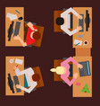 workplace office tables business people vector image vector image