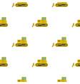 yellow bulldozer pattern flat vector image vector image