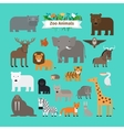 zoo animals icons vector image vector image