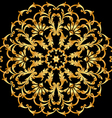 background with a circular gold ornaments vector image