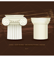 Ionic and Doric architectural order vector image