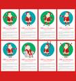 merry christmas big collection vector image