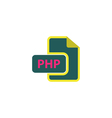 PHP Icon vector image