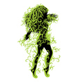 Green floral girl vector image