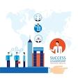 Partnership Leadership Teamwork success business vector image