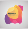 abstract blur fluid organic color gradient shapes vector image vector image
