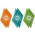 abstract geometric globe logo vector image vector image