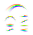 abstract rainbow set in different shapes spectrum vector image