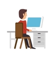 avatar person working icon vector image