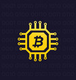 bitcoin cryptocurrency and blockchain vector image vector image