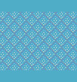 bright blue 3d rhombuses in a seamless pattern vector image
