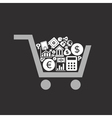 Business a cart vector image vector image