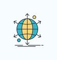 business international net network web flat icon vector image vector image
