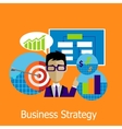 Business Strategy Concept Design Style vector image vector image