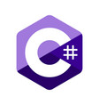 c sharp programming language emblem vector image vector image